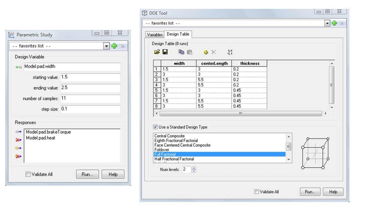 Model Center Integrate Trade Study Interface