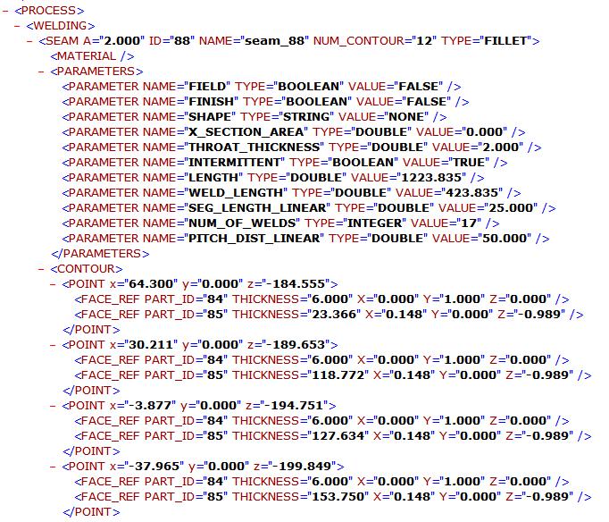 Ausgegebener Code von SF Welding Export